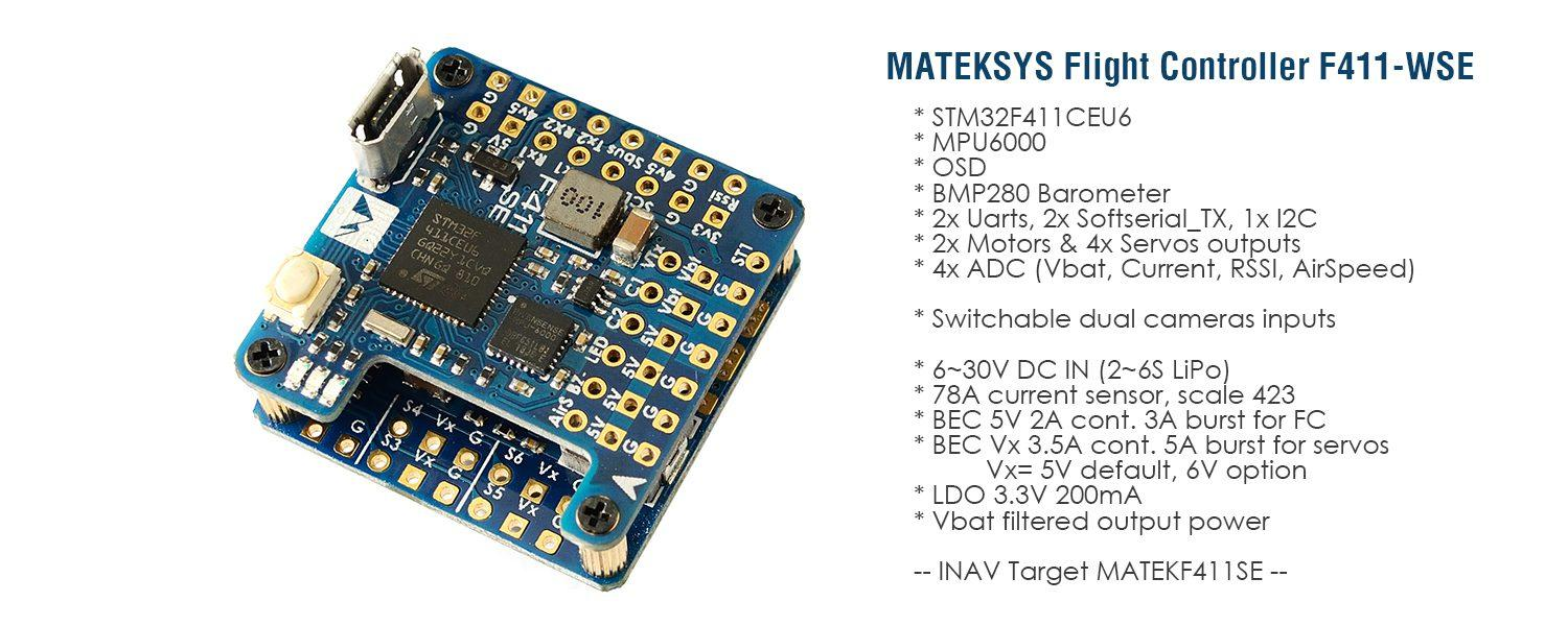 Matek F411 WSE Overview and features.