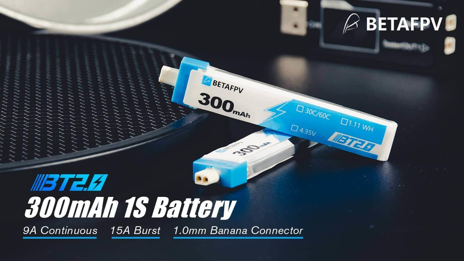 BetaFPV BT2.0 300mAh 1S 30C Battery
