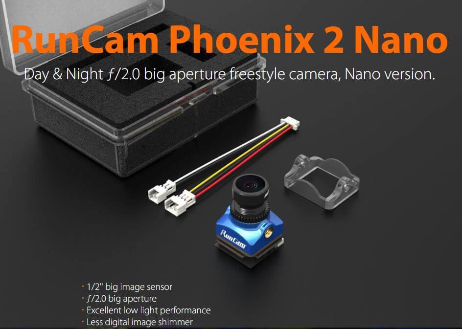 nano 2 phoenix f2.0 aperture fpv camera