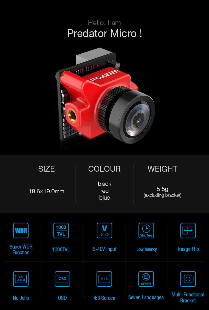 Foxeer Predator Micro FPV Camera
