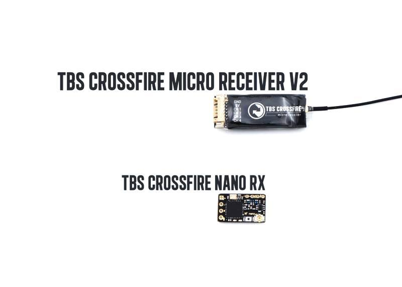 TBS Crossfire Nano Size comparison to v2
