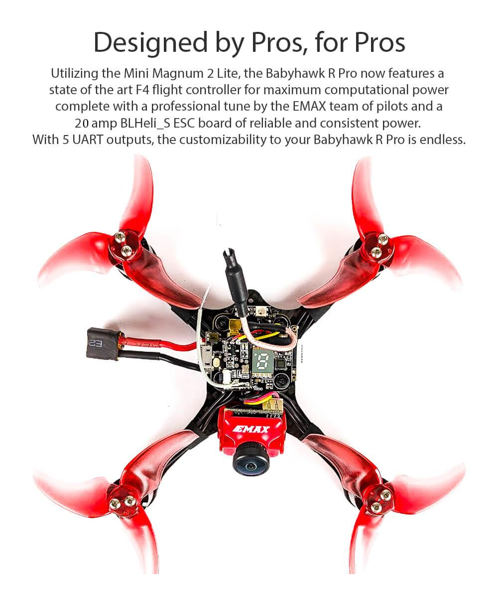 Specs and features of the babyhawk r pro