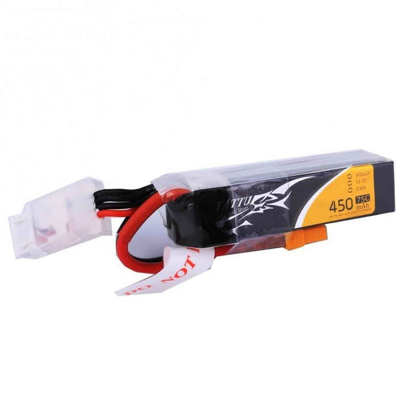 Tattu 450mah 3s Lipo 75c for beta85x