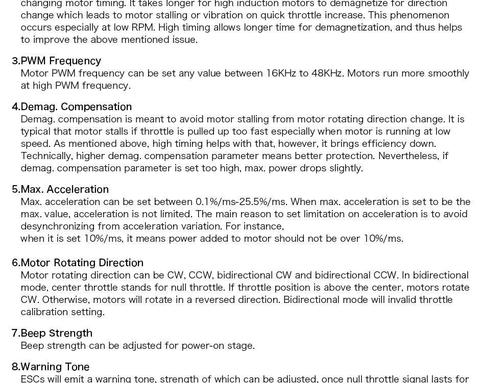 T-motor F35A-32bit 3-5S ESC user manual