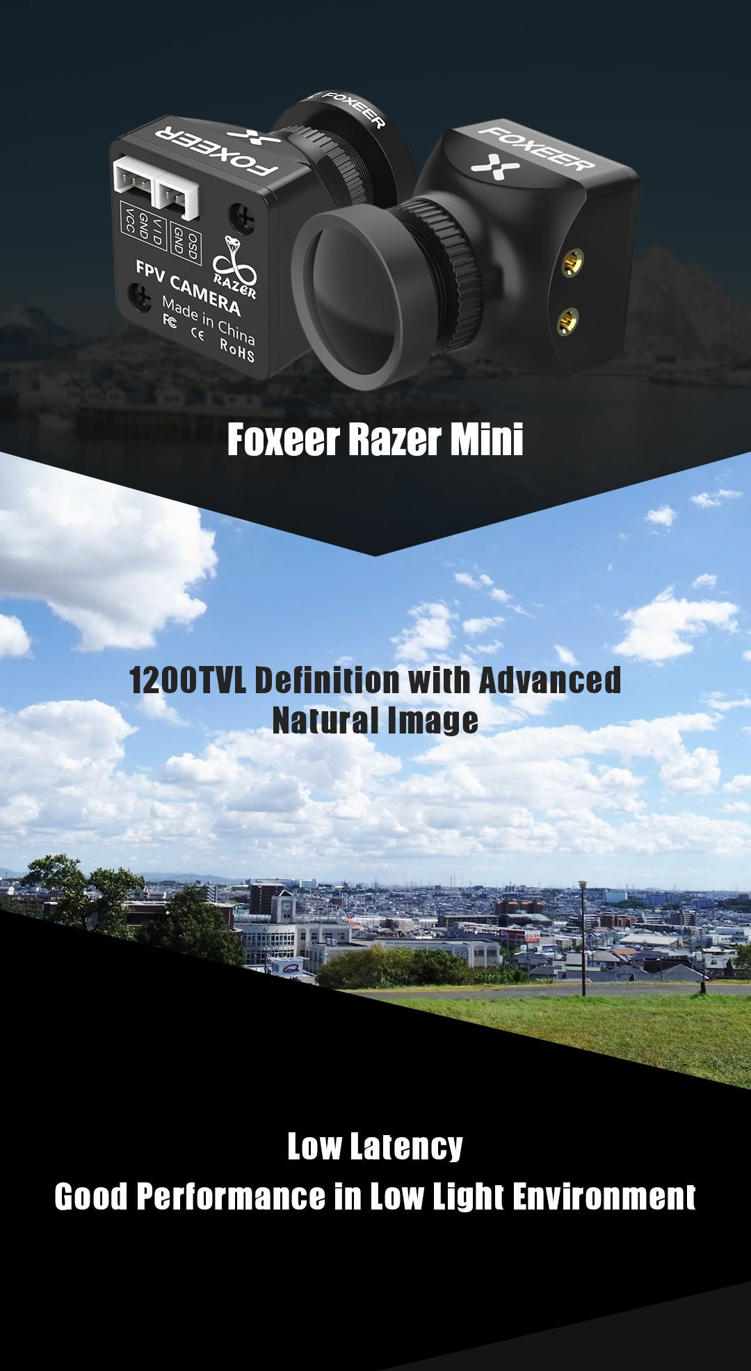 foxeer razer specs and low latency