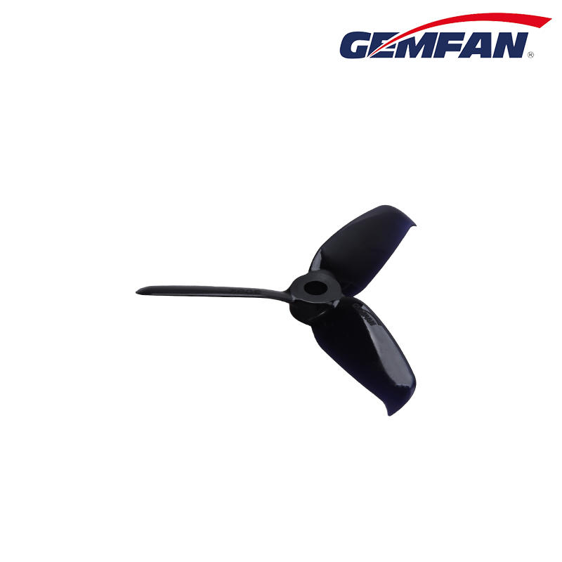Gemfan Flash 3052 Tri Blade Propeller In Black - Quadcopters.co.uk