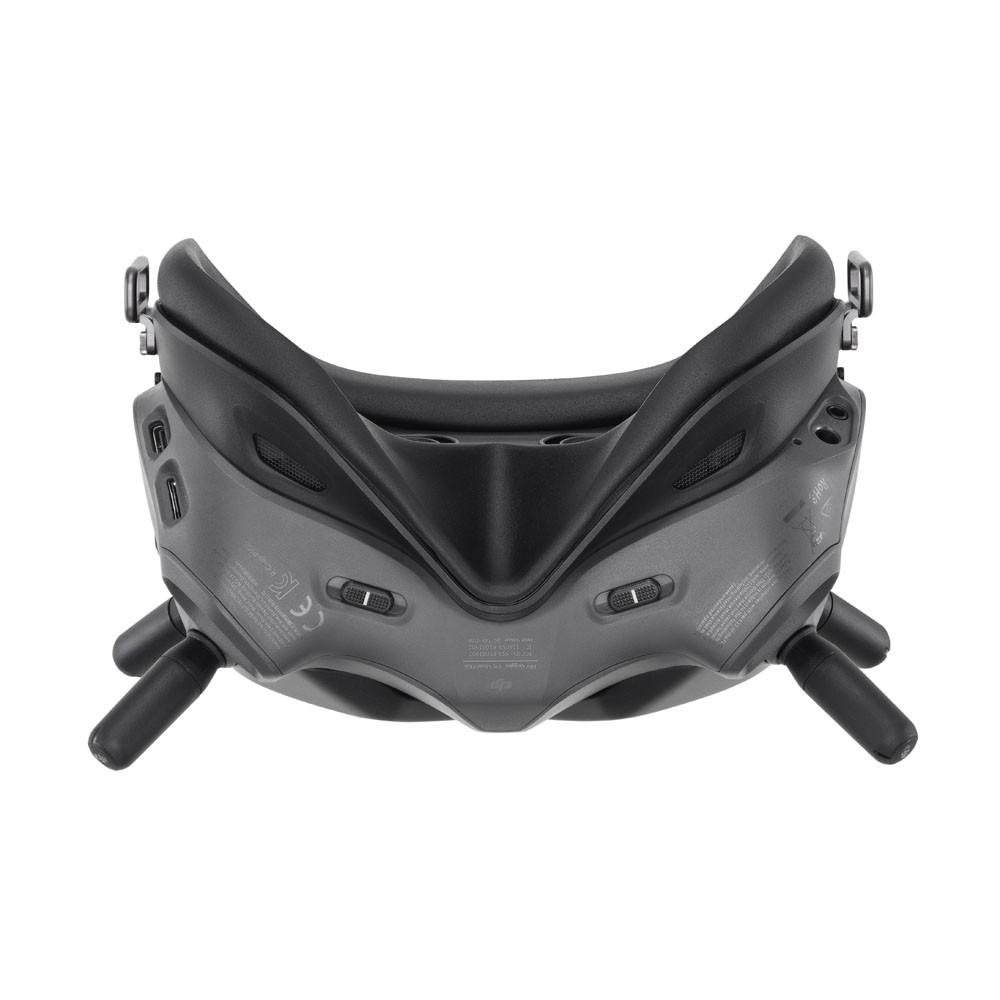 bottom view of the goggles
