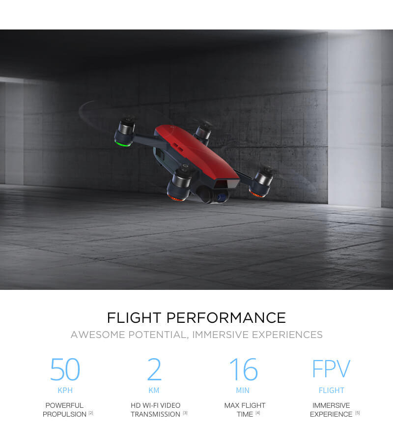 Flight Performance on the DJI Spark 50kph