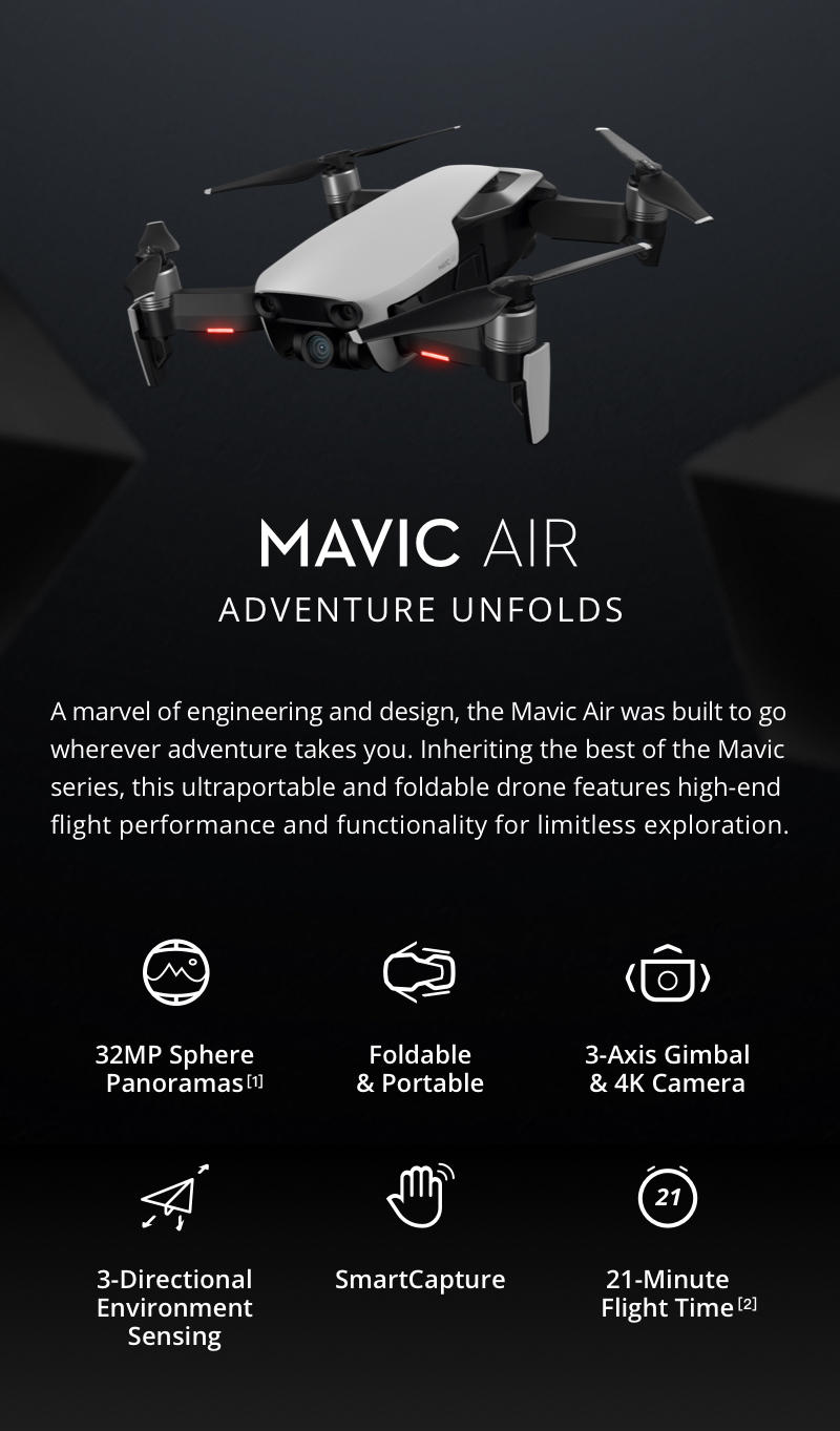 DJI Mavic Air UK Stock of the folding 4k camera drone