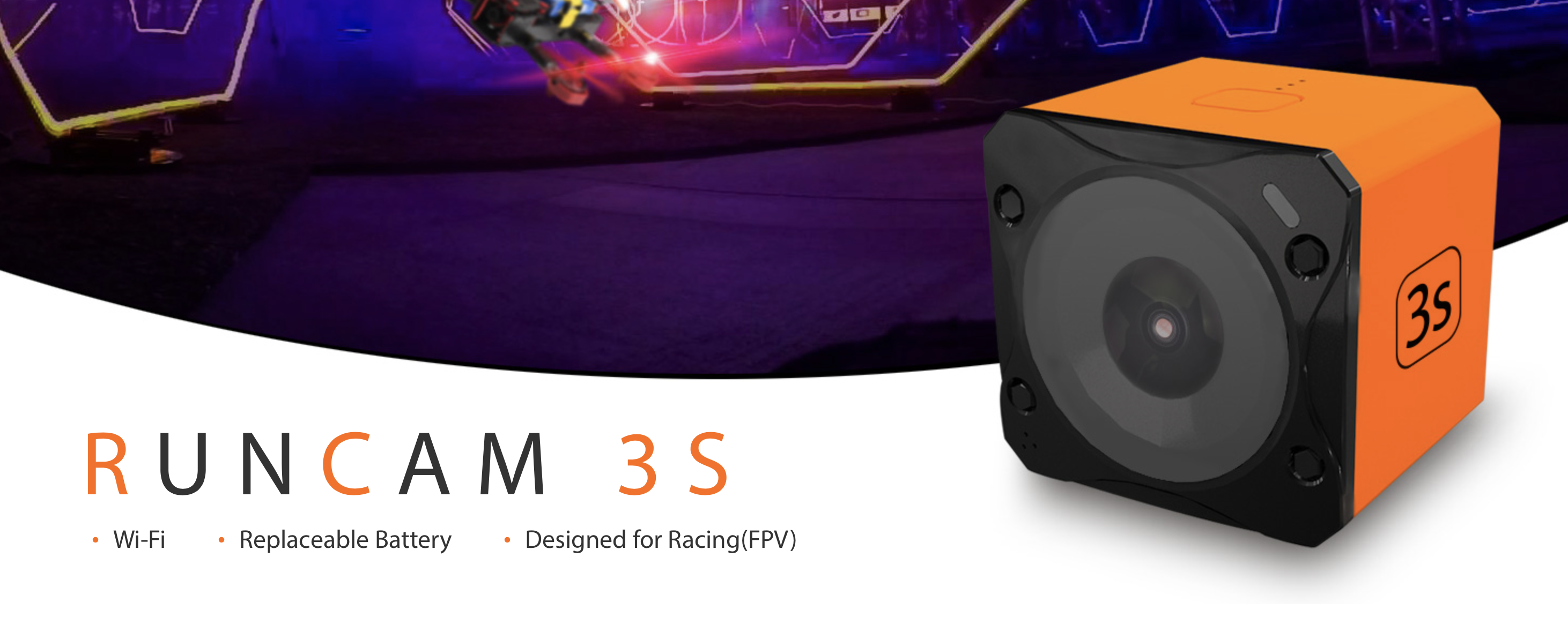 Runcam 3S Hd camera for fpv drone racing and freestyle