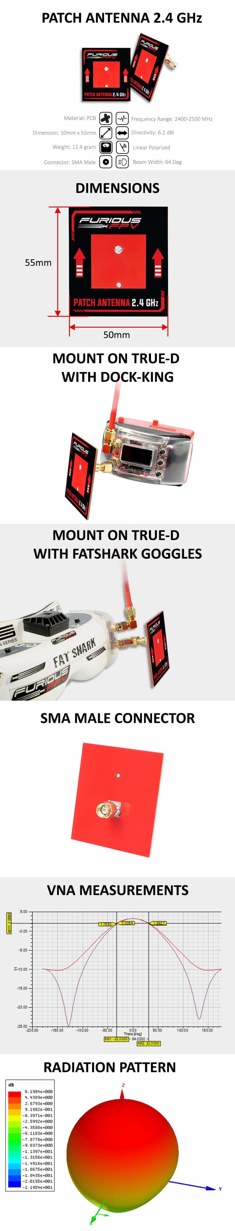 Furious Patch antenna 2.4ghz