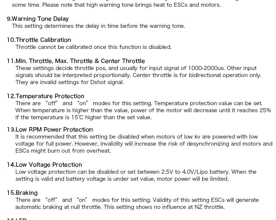 T-motor F35A-32bit 3-5S ESC seup