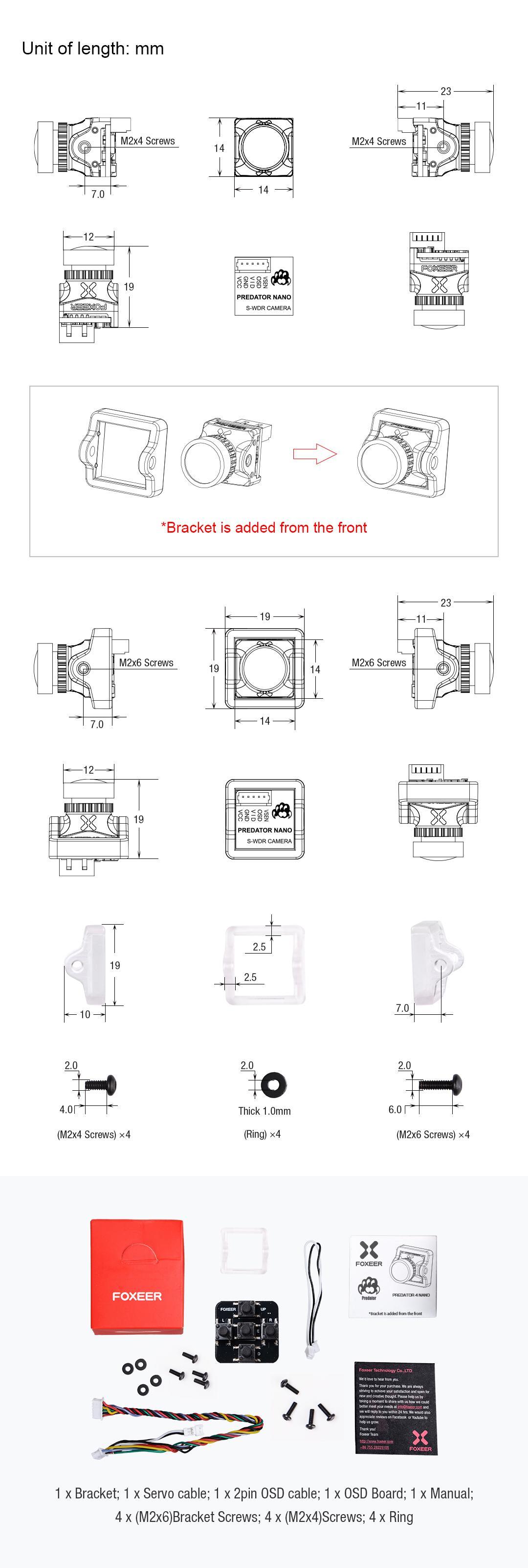 contents of the predator nano 4 camera