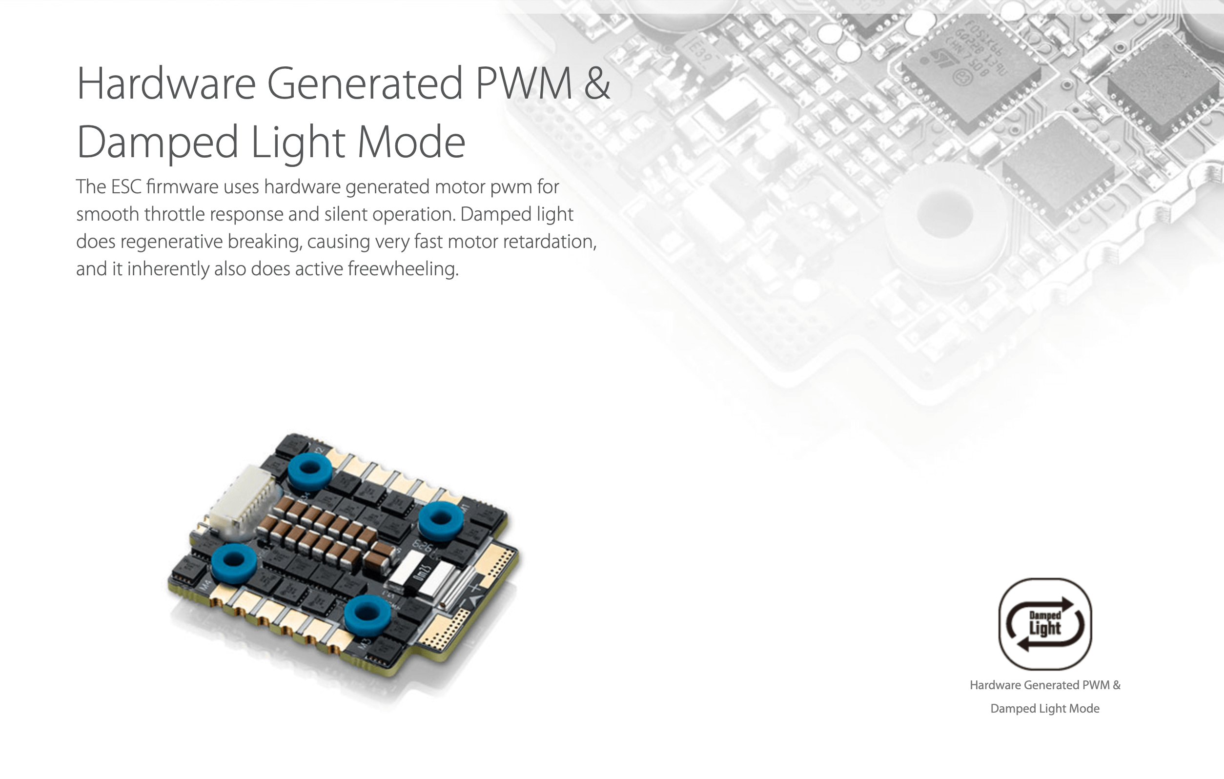 XRotor Micro 40A(20x20) 6S 4in1 ESC hardware generated pwn damped light