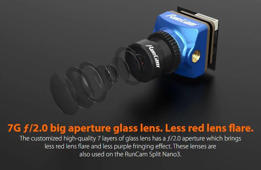 7g f2.0 big aperture glass lens means less lens flare