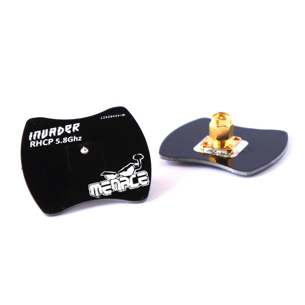 Menace Invader Patch RHCP perfect antenna for longer range in a straight line used for FPV Racing