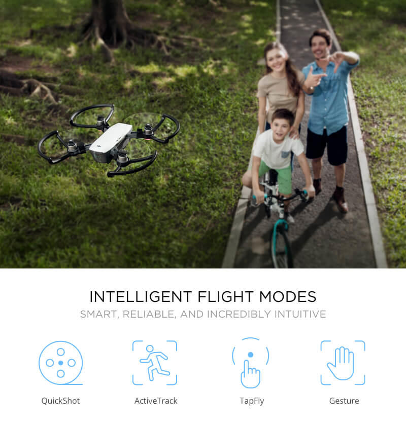 DJI Spark Intelligent Flight Modes - Quadcopters UK Store