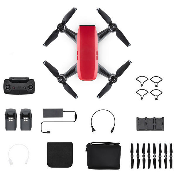DJI Spark FLY More Combo Lava Red Official UK Store