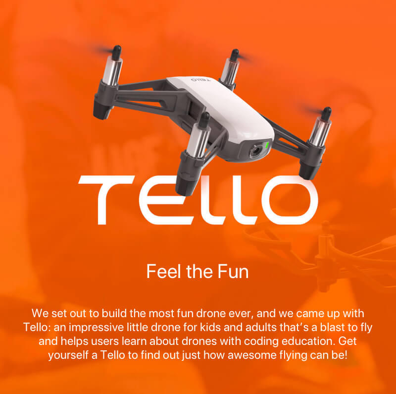 DJI Tello micro smart drone quadcopter