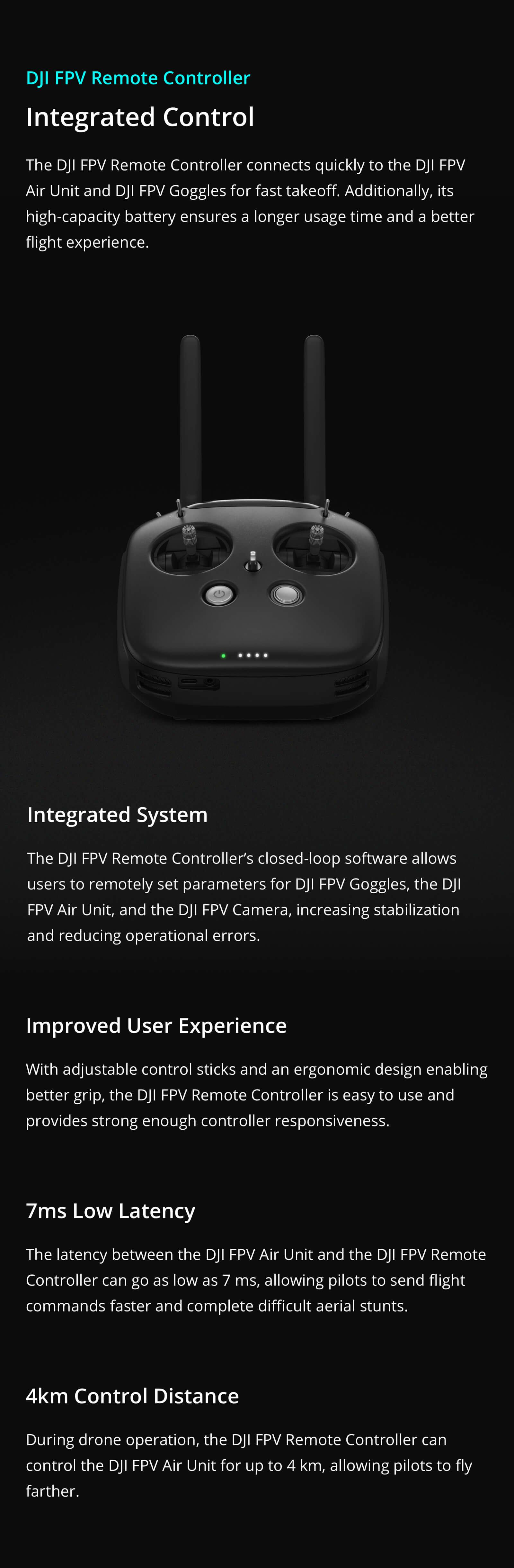 the remote controller for DJI FPV HD