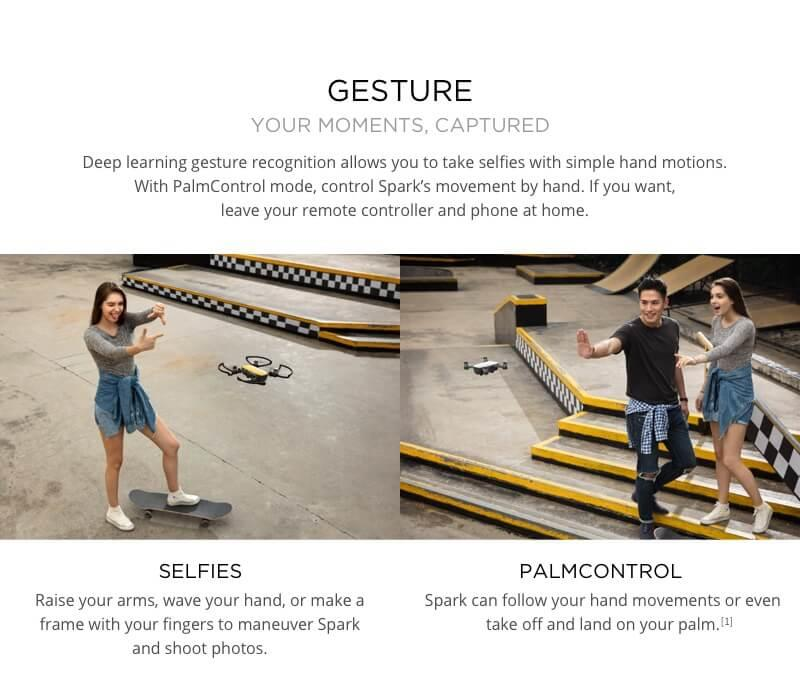 Spark from DJI Selfie Mode and Palm Control - Quadcopters.co.uk
