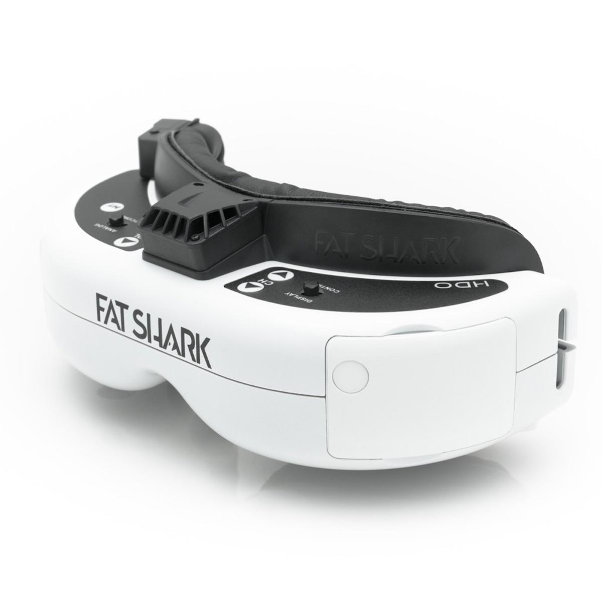 side view of the new fatshark fpv goggles HDO with OLED technology