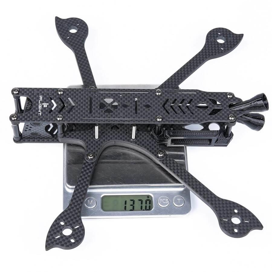 "iFlight Titan DC5 5"" FPV Frame For DJI Air Unit weight on scales 137 grams"