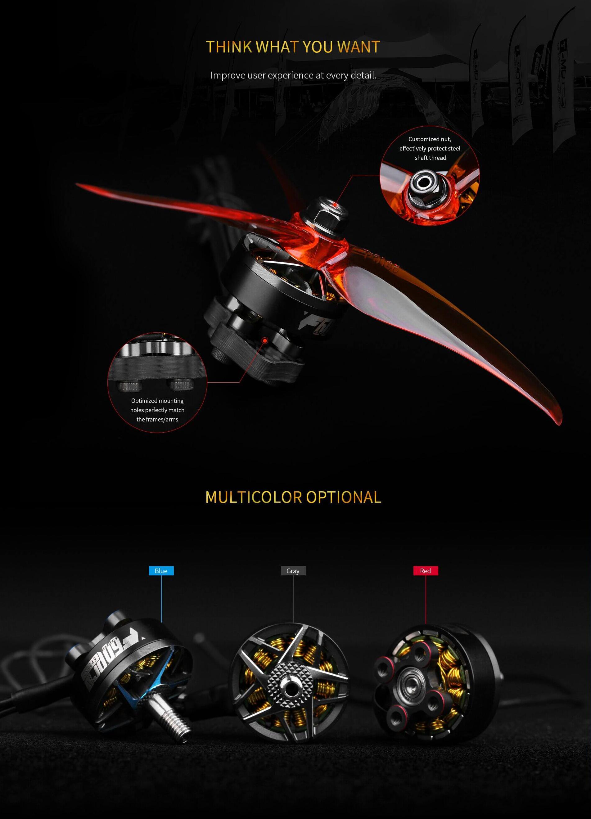 T-Motor F60PRO Ⅳ KV1750 Motor colours