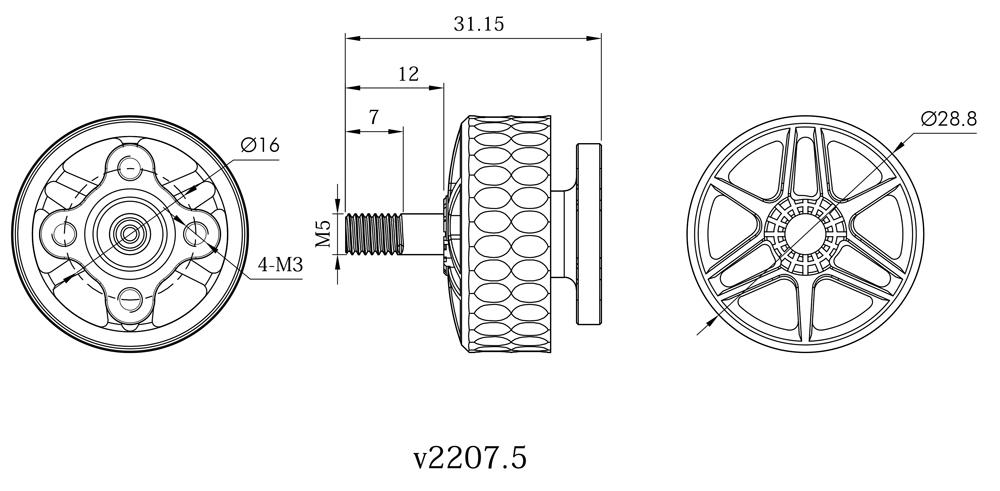 Velox 2207.5 motor specs