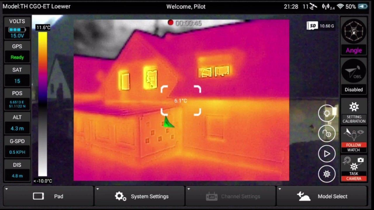 Thermal imaging yuneec drone