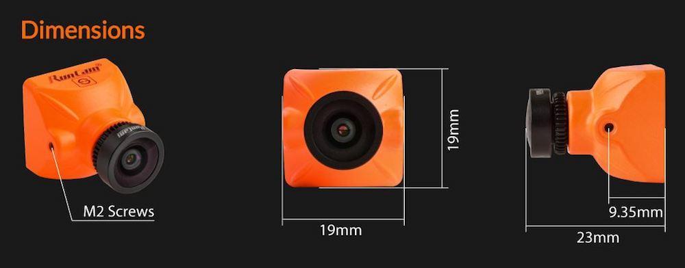 Runcam Split Mini Dimensions and size