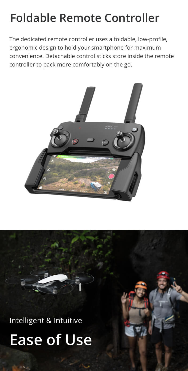 DJI Mavic Air foldable remote controller