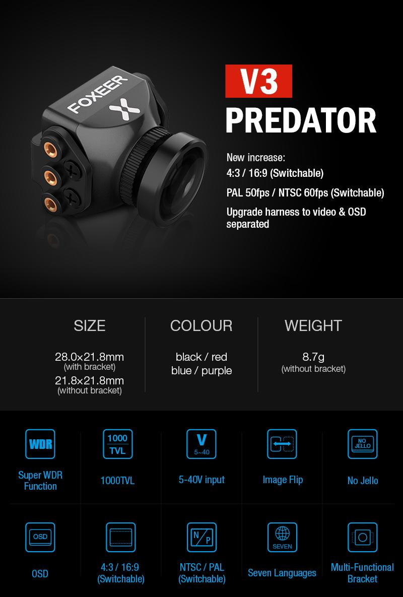Foxeer Predator v3 race fpv camera