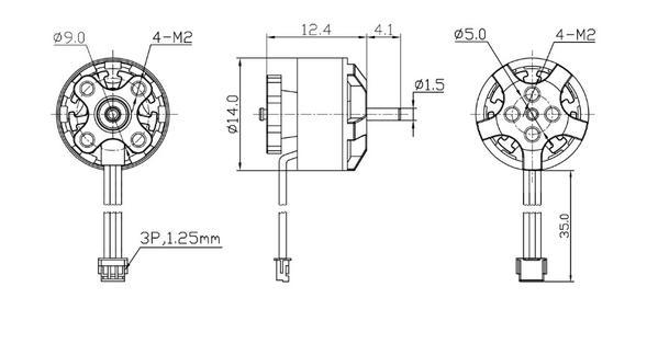 dimensions of the 1105-6000kv