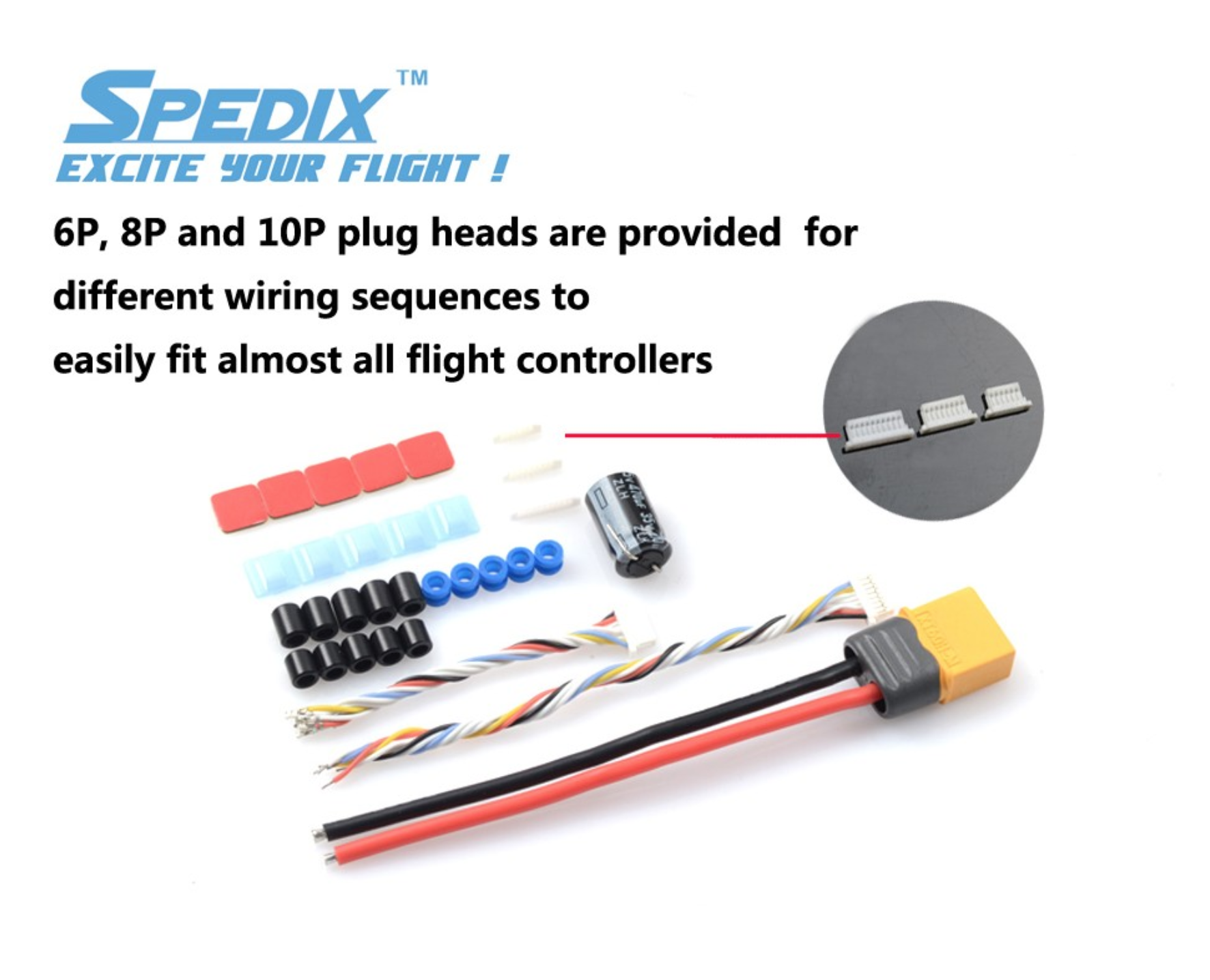 Spedix GS40F Mini 4 IN 1 ESC 20x20mm For FPV Racing Drones included inside