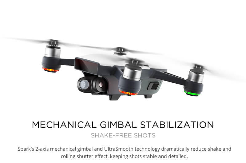 DJI Spark Smooth Gimbal Stabilization Crisp Video