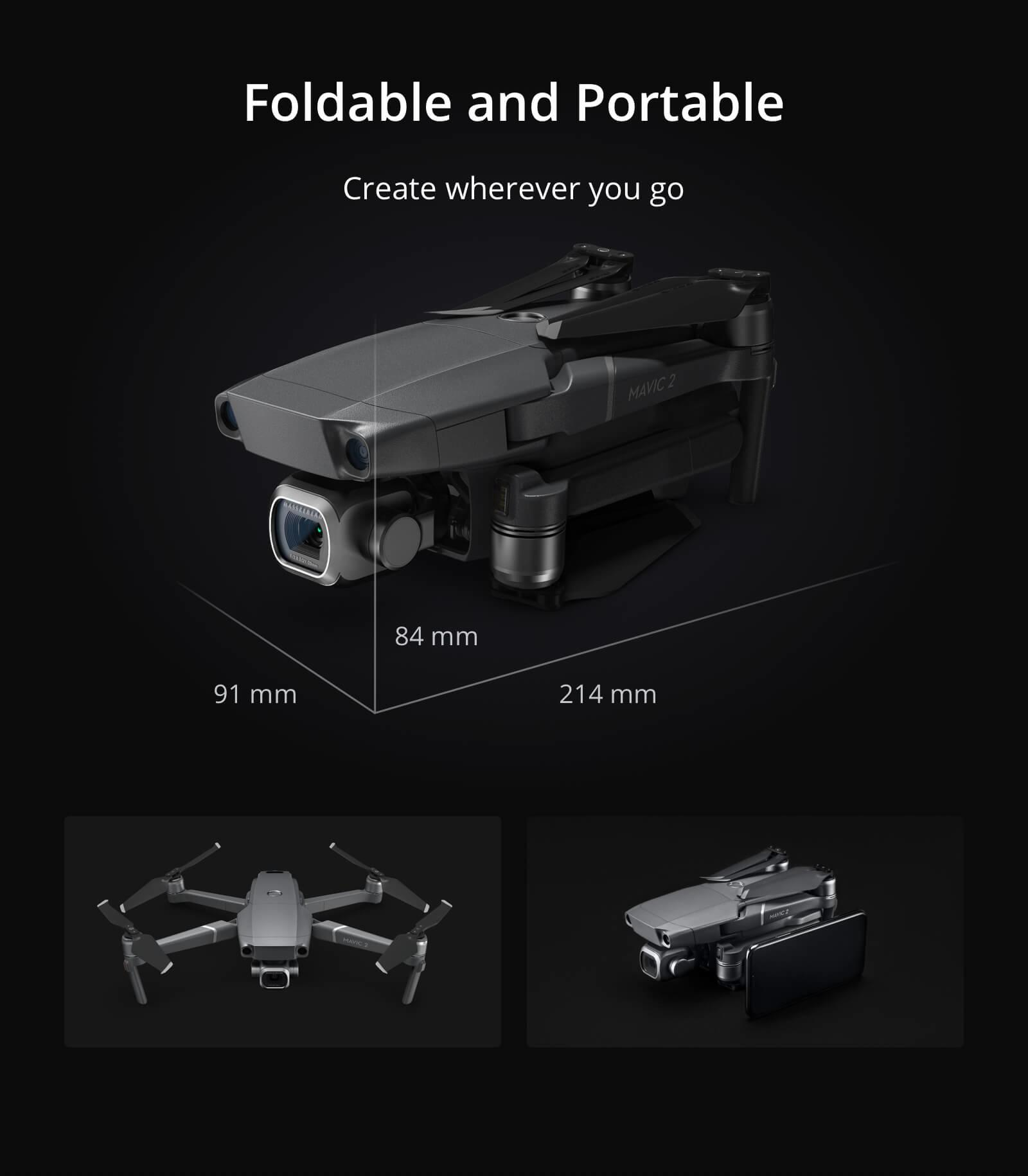 Mavic 2 is foldable and portable