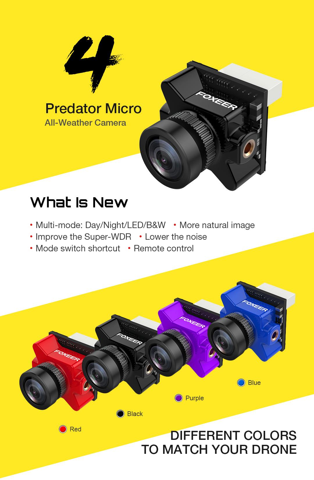 Predator V4 Foxeer camera for fpv