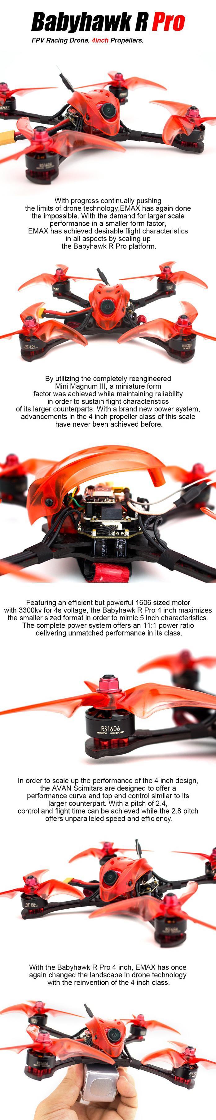 Emax Babyhawk R Pro 4 inch racing drone bnf
