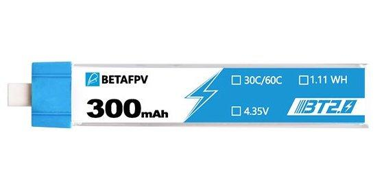 BetaFPV BT2.0 300mAh 1S HV 30C Battery (8 pcs)