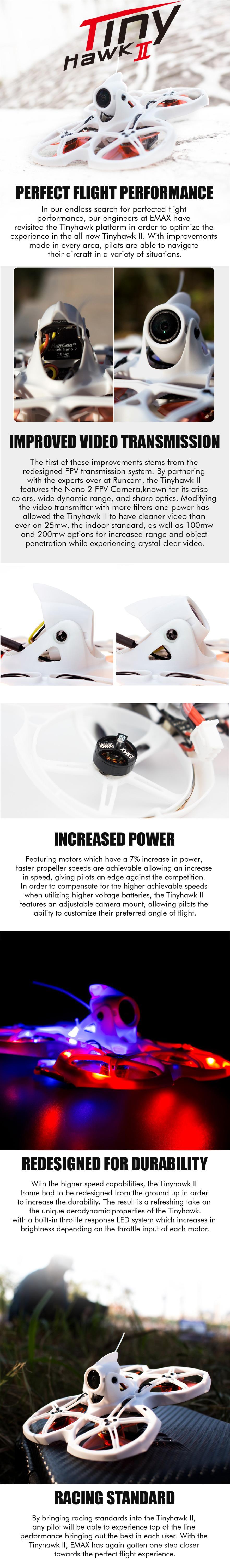 Emax TinyHawk 2 racing whoop drone info