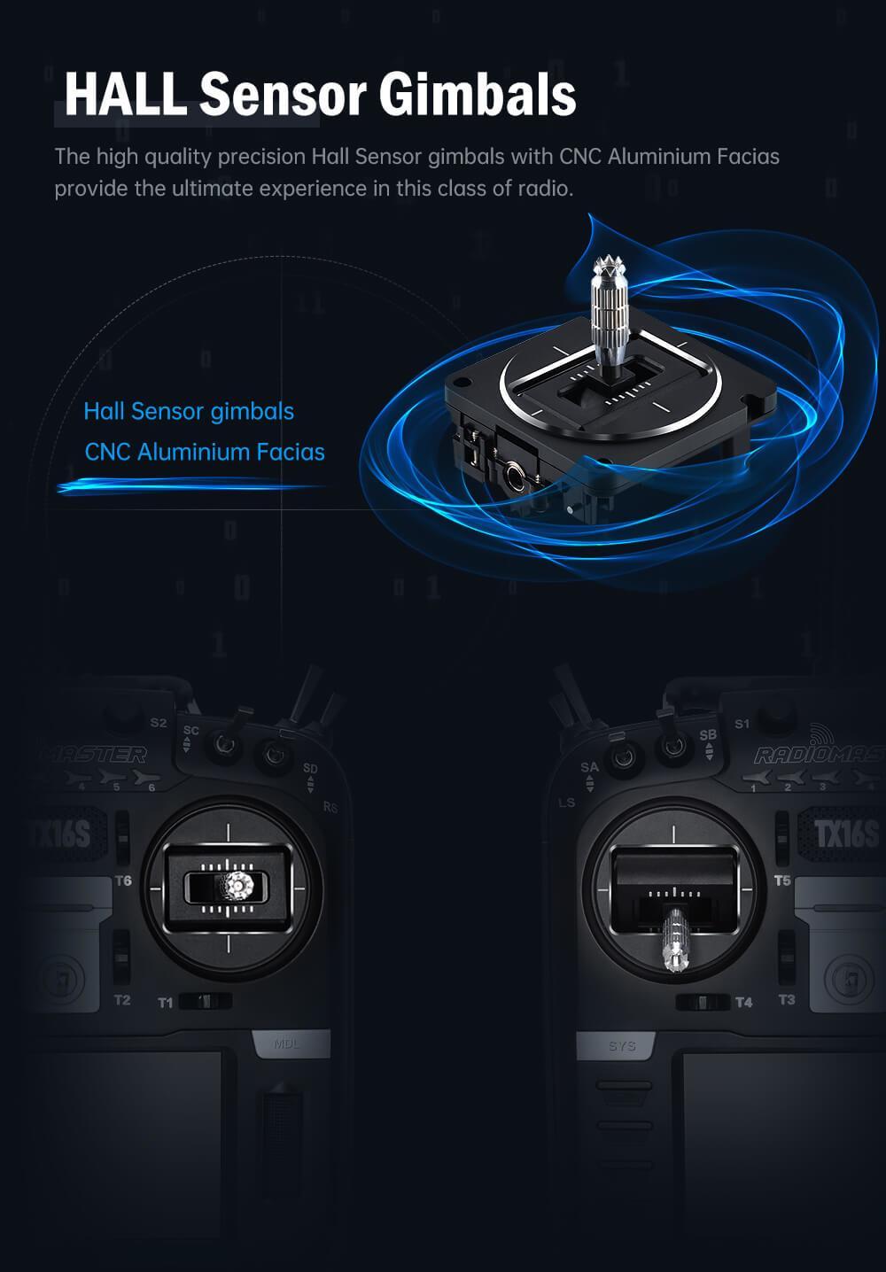 hall sensor gimbals as standard