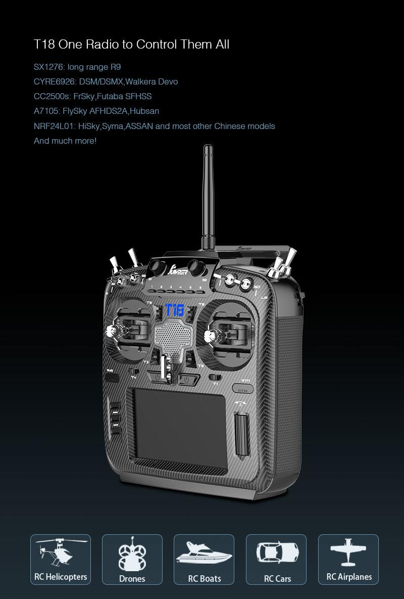 Jumper Transmitter T18 Pro with ALPS Gimbals
