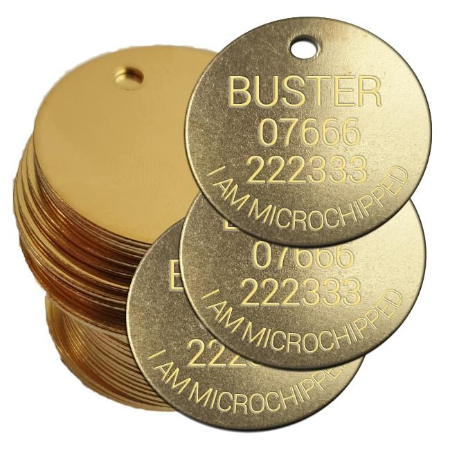 Multi buy pet tags brass