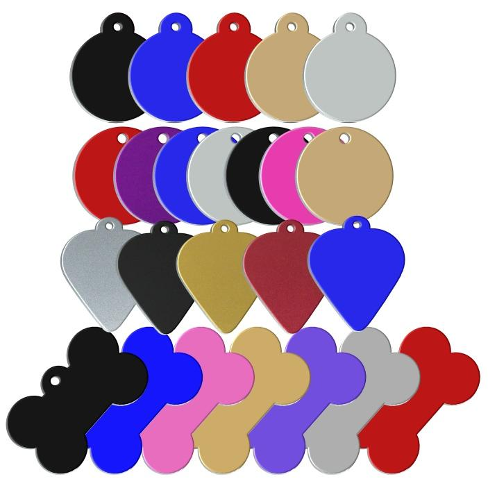 Std Coated Aluminium Pet id Tags