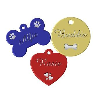 pet id name tag with motif