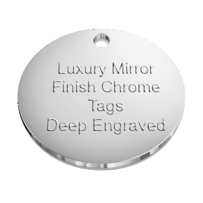 Luxury Chrome Pet Id Tags