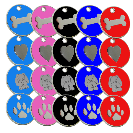Dog id Pet Name Tags-Enamel