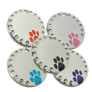 Pet id Tag with Diamonte inset Crystals