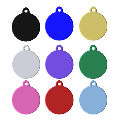 Round Pet Tag with Tab